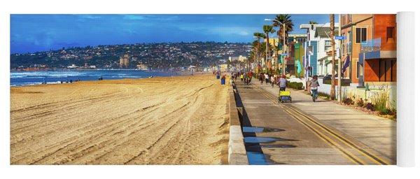 Mission Beach Boardwalk Yoga Mat