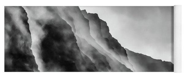 Mist On The Rocks Yoga Mat