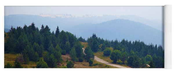Yoga Mat featuring the photograph Misty Afternoon by Milena Ilieva