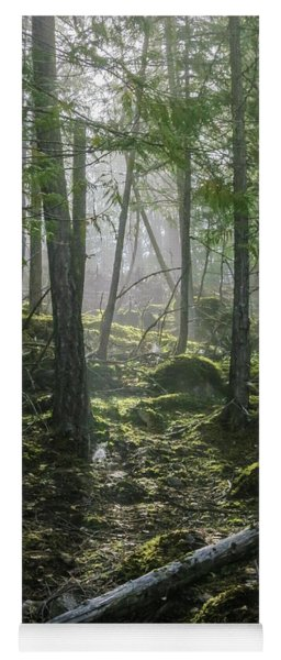 Misty Forest Morning Yoga Mat