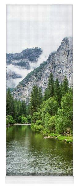 Misty Mountains, Yosemite Yoga Mat