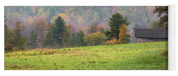 Yoga Mat featuring the photograph Misty New England Autumn by Bill Wakeley
