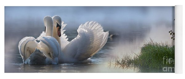 Misty Swan Lake Yoga Mat
