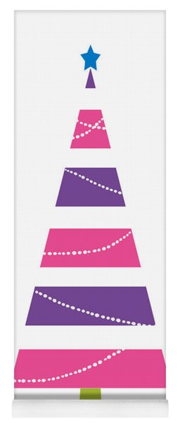 Yoga Mat featuring the digital art Modern Glam Christmas Tree 1- Art By Linda Woods by Linda Woods