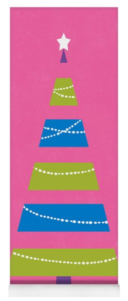 Yoga Mat featuring the digital art Modern Glam Christmas Tree 2- Art By Linda Woods by Linda Woods