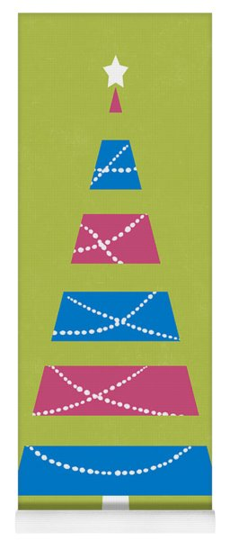 Yoga Mat featuring the digital art Modern Glam Christmas Tree 3- Art By Linda Woods by Linda Woods