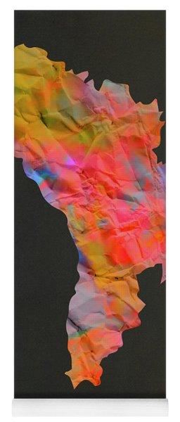Moldova Tie Dye Country Map Yoga Mat