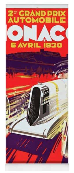 Monaco Grand Prix 1930, Vintage Racing Poster Yoga Mat