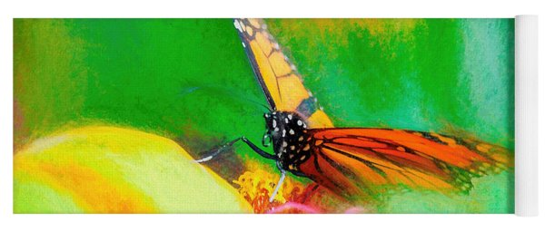 Monarch Butterfly Beautiful Smudge Yoga Mat