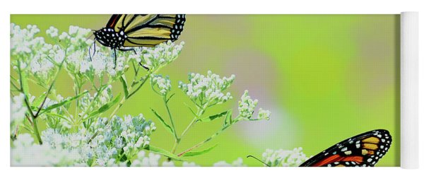Monarchs In A Meadow Yoga Mat