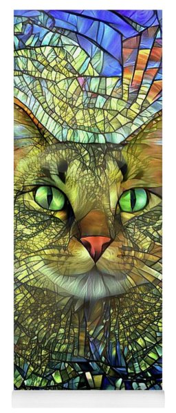 Monet The Stained Glass Tabby Cat Yoga Mat