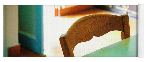 Yoga Mat featuring the photograph Monet's Kitchen Chair by Craig J Satterlee