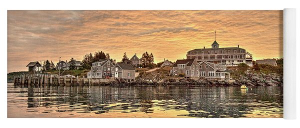Monhegan Sunrise - Harbor View Yoga Mat