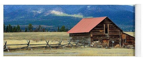 Montana Ranch Building Yoga Mat