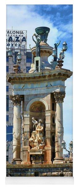 Yoga Mat featuring the photograph Monumental Fountain In Barcelona by Eduardo Jose Accorinti