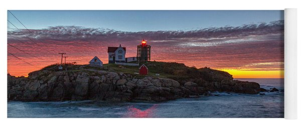 Moon Over Nubble Yoga Mat