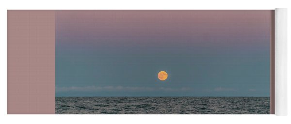 Moon Rise On Lake Michgan Yoga Mat
