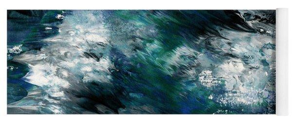 Moonlight Ocean- Abstract Art By Linda Woods Yoga Mat