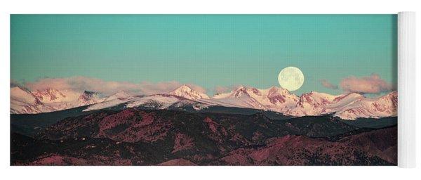 Moonlight Over Colorado Mountains Yoga Mat