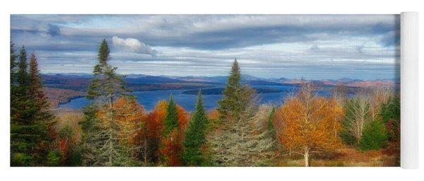 Mooselookmeguntic Lake Fall Colors Yoga Mat