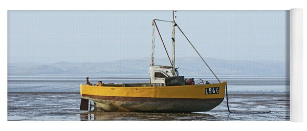 Morecambe. Yellow Fishing Boat. Yoga Mat