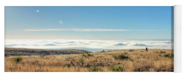 Yoga Mat featuring the photograph Morning Fog by Joe Sparks