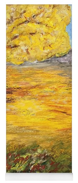 Yoga Mat featuring the painting Morning Glory by Norma Duch