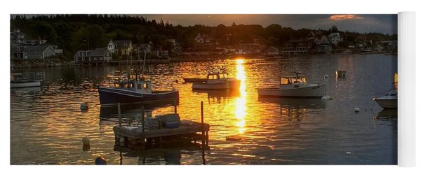 Morning Light In Stonington Maine Yoga Mat