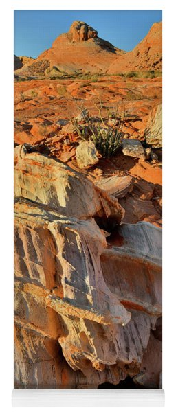 Morning Light On Beautiful Sandstone Form In Valley Of Fire Yoga Mat