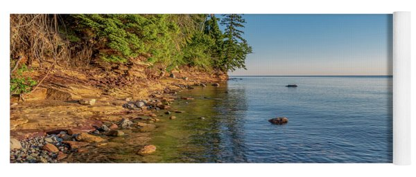 Morning Light On Lake Superior  Yoga Mat