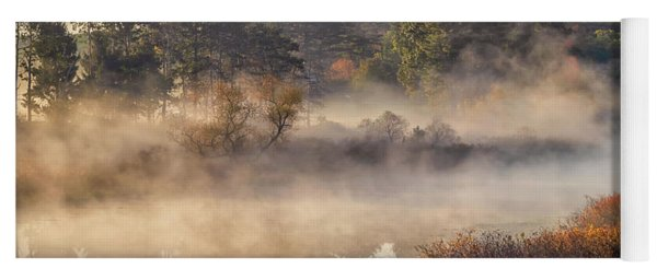 Morning Mist On The Sudbury River Yoga Mat