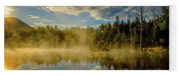 Morning Mist, Wildlife Pond  Yoga Mat