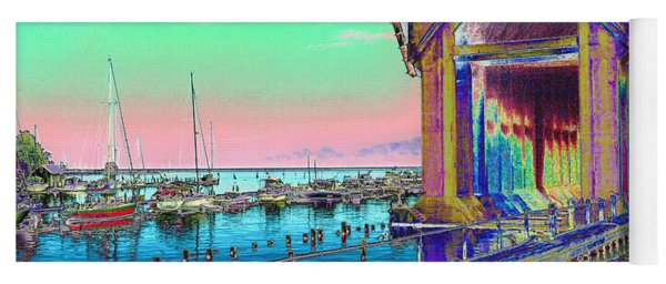 Morning Pink Marquette Ore Dock Yoga Mat