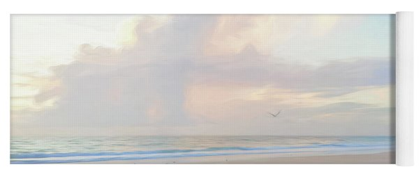 Morning Walk On The Beach Panorama Yoga Mat