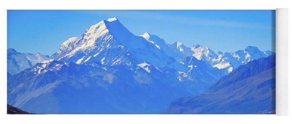 Mount Cook Overlooking Lake Pukaki,  New Zealand Yoga Mat