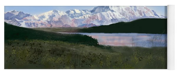 Mount Mckinley From Wonder Lake  Yoga Mat