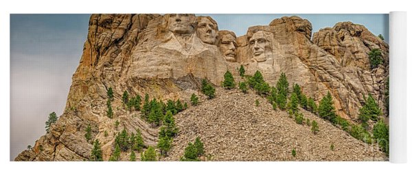 Mount Rushmore Yoga Mat