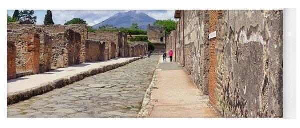 Mount Vesuvius And The Ruins Of Pompeii Italy Yoga Mat
