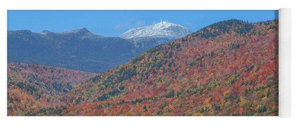 Mount Washington First Foliage Snow Yoga Mat