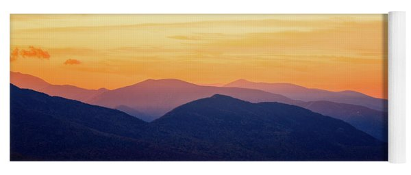 Mountain Light And Silhouette  Yoga Mat