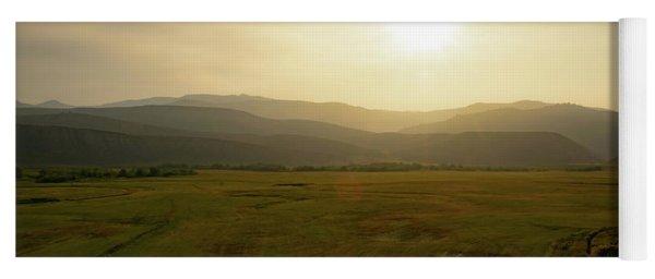 Mountains At Dawn Yoga Mat