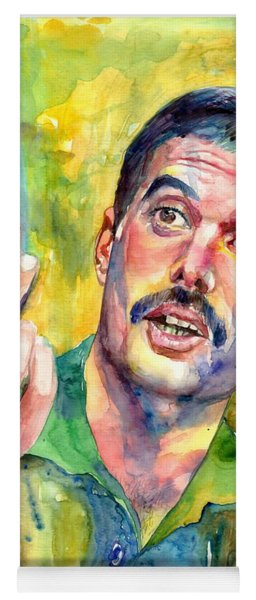 Mr Bad Guy - Freddie Mercury Portrait Yoga Mat