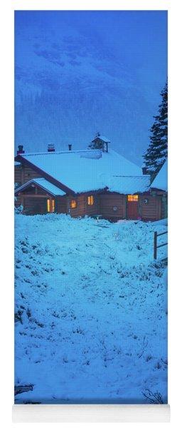 Mt Assiniboine Lodge At  Night Yoga Mat