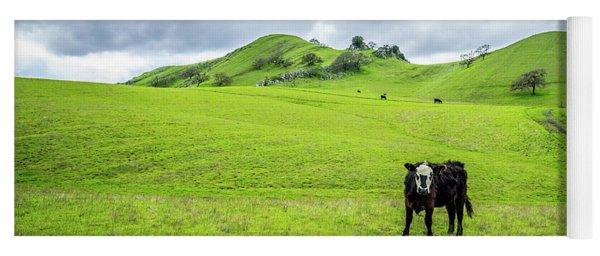 Mt Diablo Cow Yoga Mat