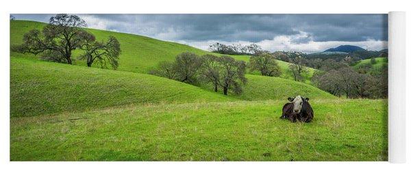 Mt. Diablo Spring Hillside Cow Yoga Mat