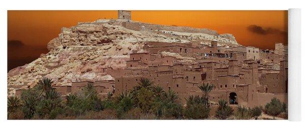 Mud Brick Buildings Of The Ait Ben Haddou Yoga Mat