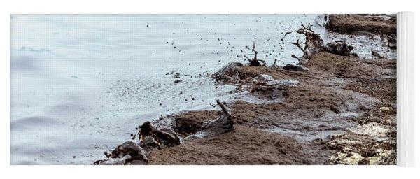 Muddy Sea Shore Yoga Mat