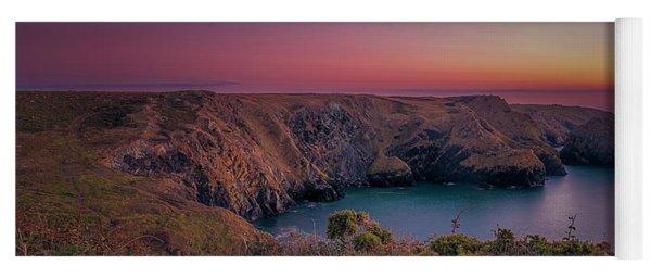 Mullion Cove Cornwall Sunset Yoga Mat