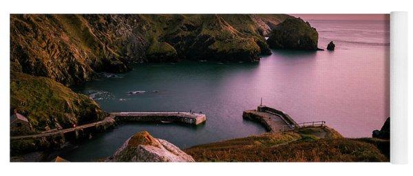 Mullion Cove Sunset - Cornwall General View Yoga Mat