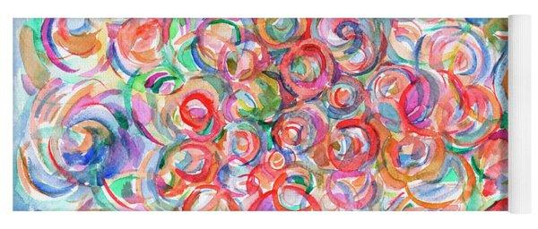 Multicolor Bubbles Yoga Mat